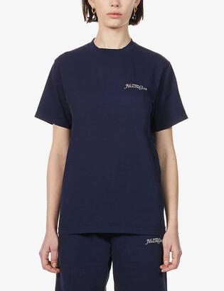 Sporty & Rich Rizzoli branded cotton-jersey T-shirt