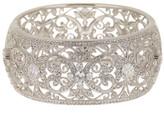 Nadri Ornate CZ Large Bangle Bracelet