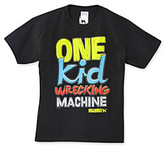 """Mambo Boys' 8-20 Black Short Sleeve """"One Kid Wrecking Machine"""" Graphic Tee"""