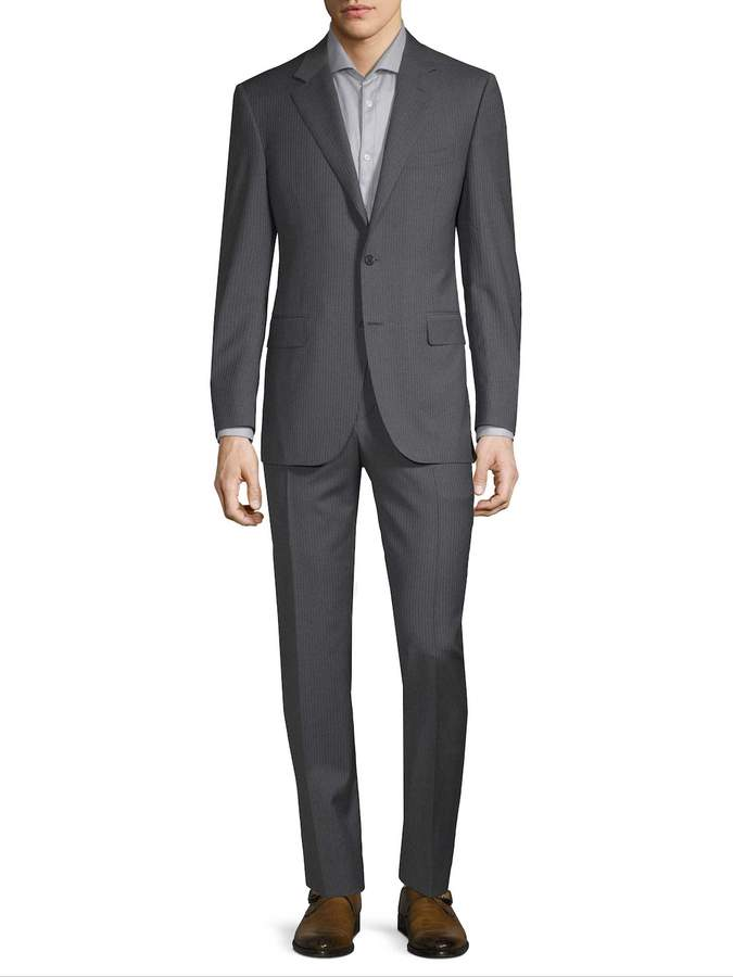 Canali Men's Wool Pinstripe Suit