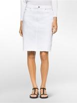 Calvin Klein Denim White Wash Skirt