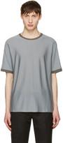 Jil Sander Grey Contrast Collar T-shirt