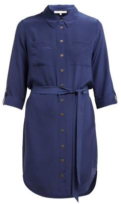 Heidi Klein Point Collar Silk Shirtdress - Womens - Navy