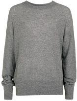 Topman DESIGN Grey Cashmere Longline Sweater