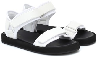 The Row Hook and Loop leather sandals