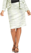 Kasper Plus Size Skirt, Spacedyed Straight