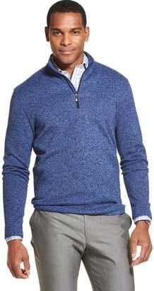 Van Heusen Mens  Flex Sweater Fleece Quarter-Zip Pullover