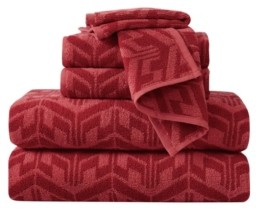 Sean John Herringbone Jacquard 6 Piece Towel Set Bedding