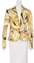 Just Cavalli Abstract Print Metallic Blazer