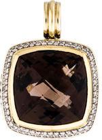 David Yurman Bi-Color Smoky Quartz & Diamond Albion Pendant