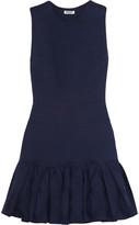 Kenzo Ruffled cotton-jacquard mini dress