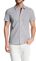 Kenneth Cole New York Stacked Arch Camp Trim Fit Shirt