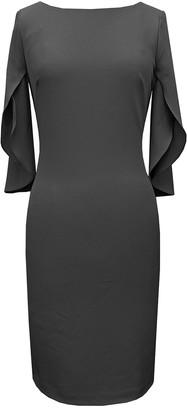 Vince Camuto Tulip Sleeve Sheath Dress (Plus Size)