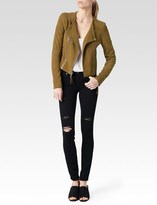 Paige Tiana Jacket - Saddle Brown Suede
