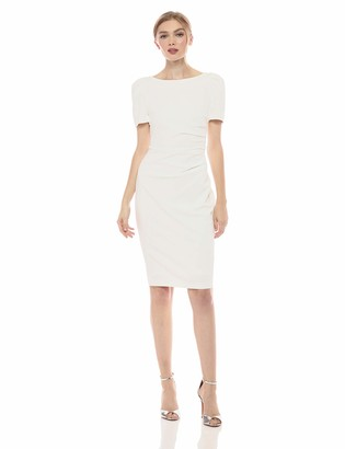Calvin Klein Women's Short Sleeve Sheath with Side Ruch Detail