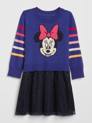 Disney babyGap   Minnie Mouse Mix-Media Dress
