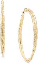 ABS by Allen Schwartz Gold-Tone Twisted Textured Wire Hoop Earrings