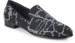 Giuseppe Zanotti Textured Leather Loafers