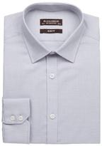 St George By Duffer Big And Tall Grey Birdseye Cotton Slim Fit Shirt
