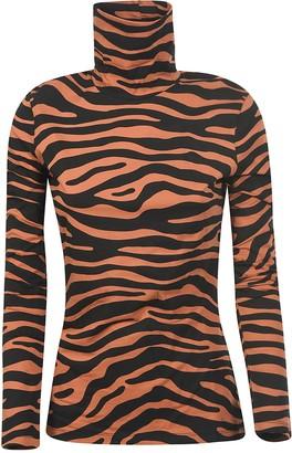 Proenza Schouler Tiger Print Turtleneck Sweatshirt