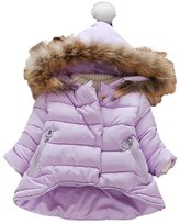 Kidscool Baby Girls Soft Hooded Down Coat Soft Keep Warm Outwear