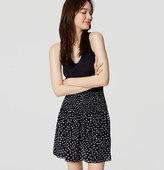 LOFT Petite Dot Smocked Waist Skirt