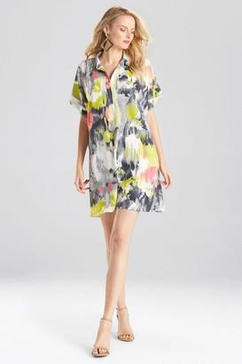 Natori Watercolor Caftan Dress