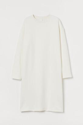 H&M Sweatshirt Dress - White