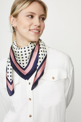 Coast Polka Dot Colour Pop Border Satin Scarf