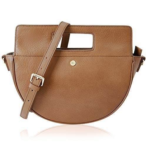 5534308f0302 The Lovely Tote Co. Women's Genuine Leather Half Moon Crossbody Bag Cowhide  Satchel Handbag