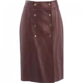 Louis Vuitton Leather Mini-Skirt