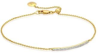 Monica Vinader Skinny Short Bar Diamond bracelet