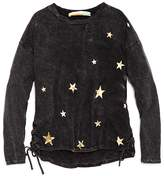 Vintage Havana Girls' Side-Lace Metallic-Star Top, Big Kid - 100% Exclusive