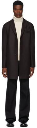 Harris Wharf London Brown Pressed Wool Boxy Coat