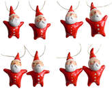 Eight Little Santa Ornaments