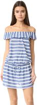 Splendid Off Shoulder Striped Dress