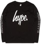 Hype Boys' Logo Long Sleeve T-Shirt, Black