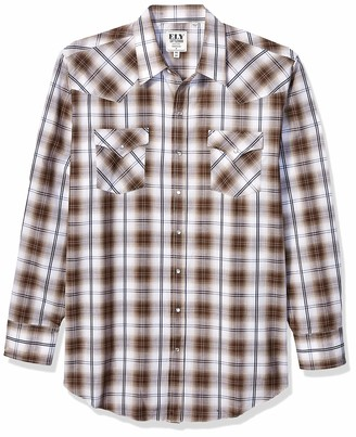 ELY CATTLEMAN Big & Tall Men's Big Long Sleeve Button Up Textured Shirt