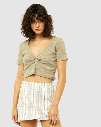Rusty Women's Short Sleeve Tops - Pippa Top - Size One Size, 8 at The Iconic