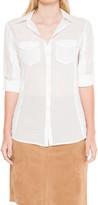 Max Studio Cotton Essential Button-Down