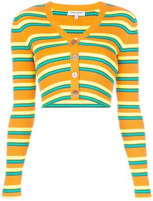 Opening Ceremony cropped striped knitted cardigan