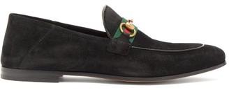 Gucci Brixton Horsebit Suede Loafers - Mens - Black