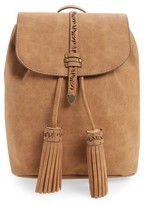 Elle & Jae Gypset Palomina Cutwork Trim Faux Leather Backpack - Brown