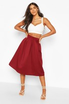 Boohoo Beau Box Pleat Midi Skirt