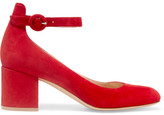 Gianvito Rossi Suede Pumps - Red