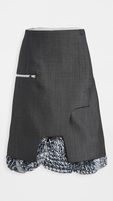 Toga Pulla Wool Mohair Bonding Skirt
