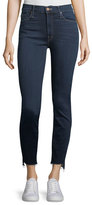 Mother Stunner Zip-Ankle Step Fray Skinny Jeans