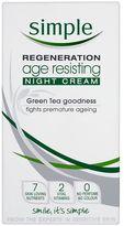 Simple Regeneration Age Resisting Night Cream 50ml