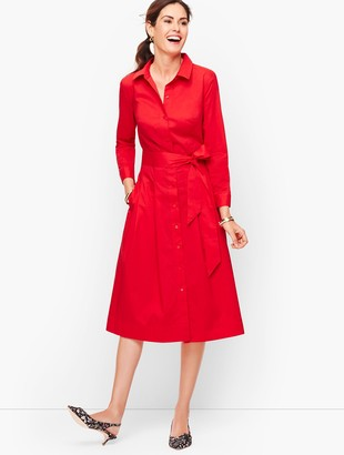 Talbots Belted Poplin Shirtdress