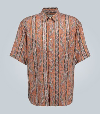 Etro Striped paisley printed shirt